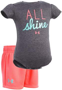 Under Armour Baby Girl All Shine Bodysuit & Shorts Set