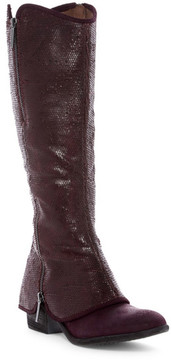 Donald J Pliner Devi5 Snake-Embossed Cuff Boot
