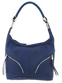 B. Makowsky As Is Zip Top Leather Hobo Bag