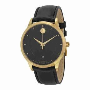 Movado 1881 Automatic Black Dial Black Leather Men's Watch 0606875