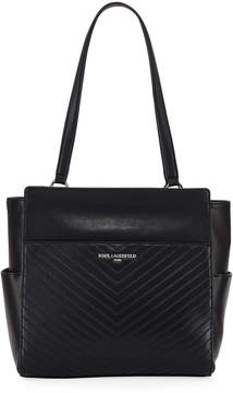 Karl Lagerfeld Paris Charlotte Quilted Leather Tote Bag