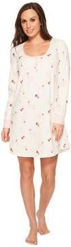 BedHead Long Sleeve Stretch Knit Henley Night Shirt Women's Pajama