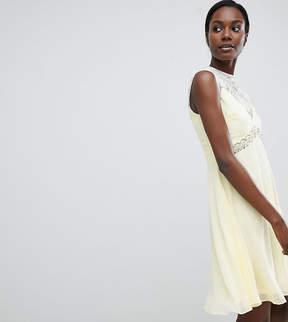 Elise Ryan Sweetheart Skater Dress With Embellished Waist