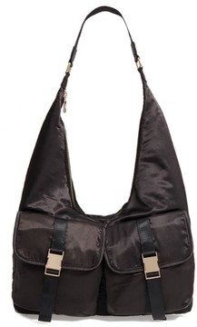 Steve Madden Satin Hobo Bag - Black