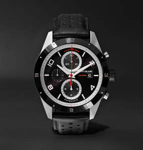 Montblanc Timewalker Automatic Chronograph 43mm Stainless Steel, Ceramic And Leather Watch