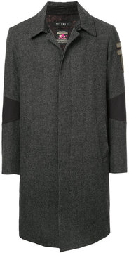 Roar single-breasted textured elbow coat