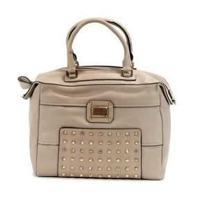 GUESS Women's Geela 437507 Large Soho Satchel Handbag Nude