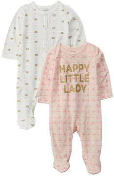 Petit Lem Baby Girls' 2Pc Sleeper Set