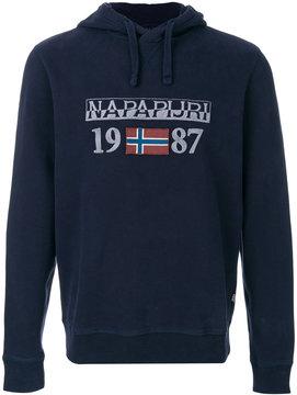 Napapijri logo embroidered hoody