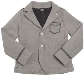 Armani Junior Cotton Jersey & Neoprene Jacket