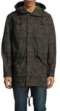 Jack and Jones Camouflage Hooded Jacket