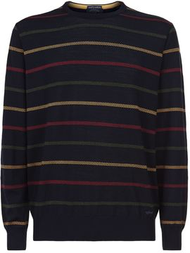 Paul & Shark Striped Round Neck Sweater