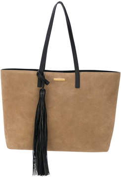 Saint Laurent shopping tote bag - BROWN - STYLE