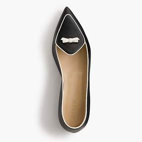 J.Crew Two-tone pointed-toe loafers