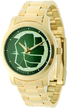 Marvel Hulk Mens Gold-Tone Stainless Steel Watch