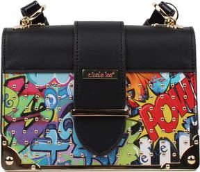 Nicole Lee Street Style Graffiti Print Mini Box Cross Bag (Women's)