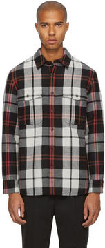 Burberry Black Check Flannel Shirt
