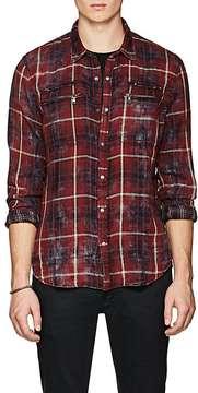 John Varvatos Men's Plaid Double-Faced Cotton Shirt