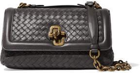 Bottega Veneta Olimpia Knot Intrecciato Leather Shoulder Bag - Anthracite