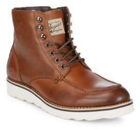 Original Penguin Nigel Leather Ankle Boots