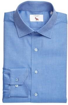 Lorenzo Uomo Men's Trim Fit Textured Dress Shirt