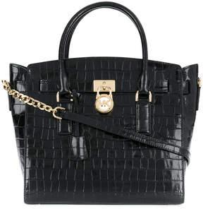 Michael Kors crocodile embossed tote bag - BLACK - STYLE