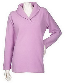 Denim & Co. As Is Shawl Collar Long Sleeve Pullover Fleece Top