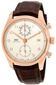 IWC Portugieser Silver Dial Automatic Men's Chronograph Watch