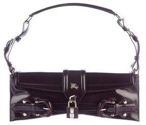 Burberry Leather-Trimmed Shoulder Bag - BROWN - STYLE
