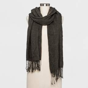 Collection XIIX Women's Textured Scarf A New Day Gray