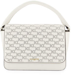 Karl Lagerfeld Paris Babette Monogram Leather Satchel Bag