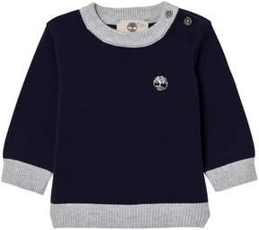 Timberland Kids Navy Cotton Knit Branded Jumper