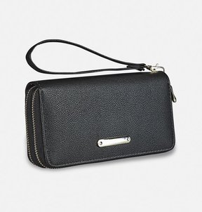 Avenue Pebble Double Zip Wristlet
