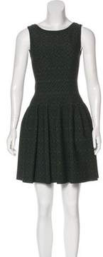 Alaia Cloqué Fit and Flare Dress