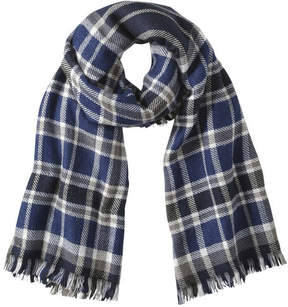 Joe Fresh Women's Double Face Scarf, JF Midnight Blue (Size O/S)