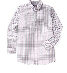 Roundtree & Yorke Trademark Big & Tall Long-Sleeve Tattersall Sportshirt