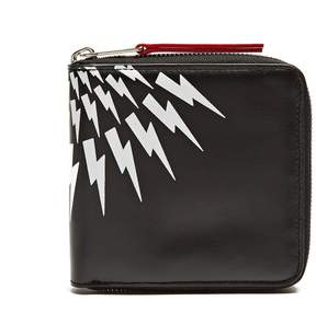 Neil Barrett Lightning-bolt zip-around wallet