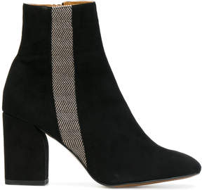 Castaner stripe ankle boots