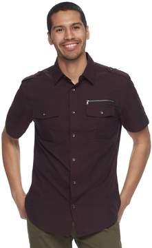 Rock & Republic Men's Zipper Button-Down Shirt