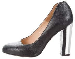 Dries Van Noten Cracked Leather Pumps