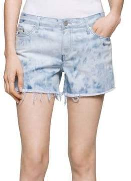 Calvin Klein Jeans Frayed Denim Shorts