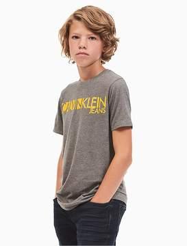 Calvin Klein Jeans Boys Contrast Logo Heathered T-Shirt