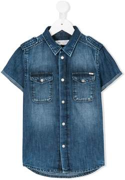 John Galliano denim short sleeve shirt