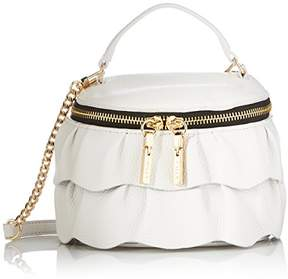 Milly Astor Ruffle Small Top Zip Crossbody