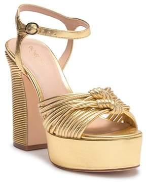 Rachel Zoe Avery Metallic Nappa Platform Sandal