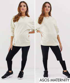 Asos Design maternity leggings 2 pack