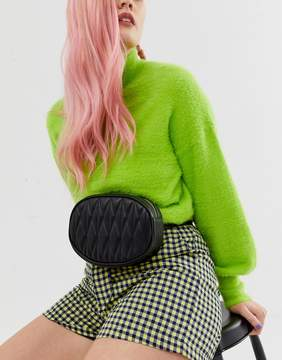 Asos DESIGN circle quilted fanny pack