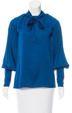Doo.Ri Long Sleeve Silk Top