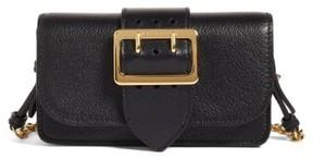 Burberry Mini Buckle Calfskin Leather Bag - Black - BLACK - STYLE
