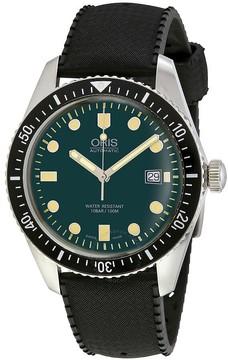 Oris Divers Green Dial Automatic Men's Rubber Watch
